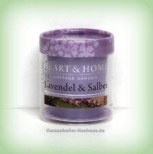 Heart & Home Votivkerze Lavendel & Salbei 53 g