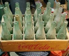 Case of 24 circa 1939 to 1951 Vintage Coke Bottles with Wooden Crate