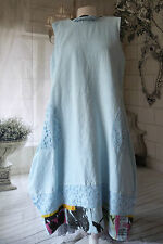 gorgeous SARAH SANTOS LAGENLOOK PARACHUTE DRESS  100% LINEN LONG  M/L