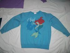 Disney Ariel Blue Sweat Shirt Sz Lg 10