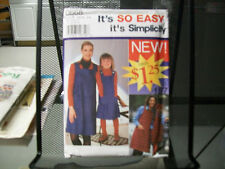 0668 SIMPLICITY SEWING PATTERN UNCUT CHILD'S AND MISSES' JUMPER POCKETS DRESS
