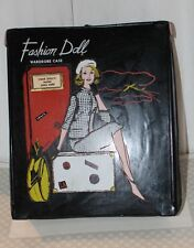 Vint Fasion Doll Case Empty Black Vinyl Fits Barbie Model in 1950s/60s Outfit