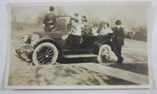 VINTAGE 1920 PHOTOGRAPH NAYLOR ELECTRIC CO TULSA OKLAHOMA FAMILY IN AUTOMOBILE