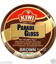 Brown Kiwi Parade Gloss, Shoe Boot Wax Polish Ultra Gloss 1 1/8 oz