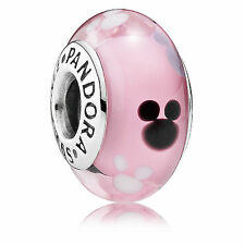 Mickey Mouse Icon, Disney Park Limited Edition Pandora S925 ALE, Murano Glass
