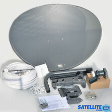 Freesat / Sky 80cm zone 2 satellite dish & quad lnb + 20m White coax install kit