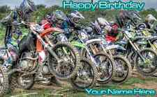 Birthday banner Personalized 4ft x 2 ft  Dirt Bikes