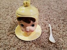 """Miss Cutie-pie"""" Japan/Fine China Hand Painted and numbered A3509/YE.  Sugar bowl"""