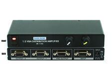 1x2 (1:2) 2-Way VGA PC RGBHV Video Splitter Distribution Amplifier SB-1102