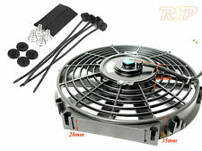 "12"" Universal Electric 12V 80W Radiator/Intercooler Fan + Pull Thru Fitting Kit"
