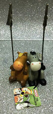 NICI CLIP PORTAFOTO IN RESINA ASINO E CAVALLO DONKEY AND HORSE PHOTO HOLDER