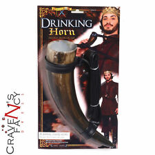 Medieval Drinking Horn Prop Viking Game of Thrones Fancy Dress Party New