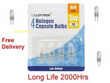 Pack 10, 20 Watt G4 12 Volt  Halogen Lamp Capsule Bulb 20w 12v Long Life