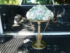AUTHENTIC PAIRPOINT PUFFY TABLE LAMP WITH MAGNIFICENT BIG ROSE BOUQUET SHADE - P