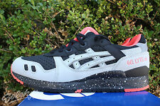 ASICS GEL LYTE III 3 SZ 11 BLACK LIGHT GREY 3M REFLECTIVE H6W1L 9013