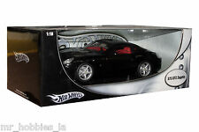 FERRARI 575 GTZ ZAGATO 1/18 DIE CAST MODEL BLACK BY HOT WHEELS P9888
