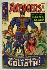 AVENGERS #28 (1966) GIANT-MAN RETURNS ( FIRST GOLIATH ) 1ST APPEARANCE COLLECTOR