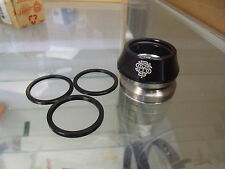 "ODYSSEY CONICAL INTEGRATED 1-1/8"" BLACK BMX BICYCLE HEADSET"
