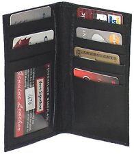 Genuine Lambskin Leather Cowhide Breast Wallet BLACK # 4612