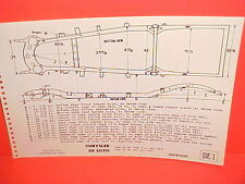 1946 1947 1948 CHRYSLER ROYAL WINDSOR DESOTO DELUXE CUSTOM FRAME DIMENSION CHART