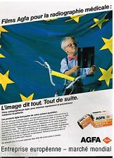 Publicité Advertising 1989 Pellicules photo Films Agfa