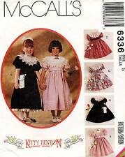 McCall's Children's Dress, Petticoat and Bag Pattern 6336 Size 5 UNCUT