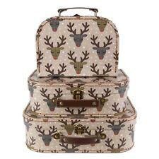 Juego de 3 maletas Navidad Reno Collage De Almacenamiento Niños Regalo Sass & Belle