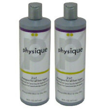 2 NEW PHYSIQUE 16 OZ/OUNCE BOTTLES 2 IN 1 DAILY SHAMPOO/CONDITIONER