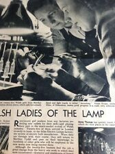 L4-2  1940s 1 Page Article Anne Thomas Betty Stevens Atlas Electric Lamp Company
