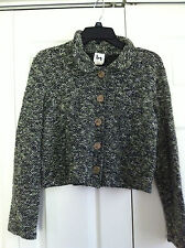 BN Blanc Noir Women's Top Cropped Jacket Medium 60% Acrylic Made in USA