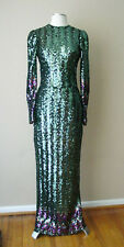 RETRO VINTAGE SEQUINS LINED EVENING COCKTAIL DRESS GOWN FORMAL