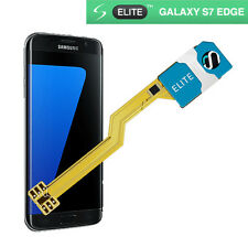 Adaptador de Tarjeta SIM Doble Para Samsung Galaxy S7 Edge-Elite-Sin Corte-UK