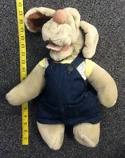 Wrinkles Inc Dog Hand Puppet with Overalls Heritage Collection Used w/ Tush Tag