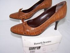 Size 5 brown leather ourt shoes from Russell and Bromley