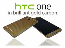 Textured Carbon Fibre Skin Wrap For HTC ONE M7 Cover Sticker Protector Case