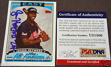 JASON HEYWARD Rare High School Autograph Signed 2006 TOPPS RC Auto AFLAC PSA/DNA