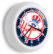NY NEW YORK YANKEES BASEBALL TEAM LOGO WALL CLOCK MAN CAVE LIVING TV ROOM DECOR