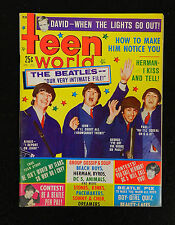 1966 TEEN WORLD THE BEATLES MAGAZINE
