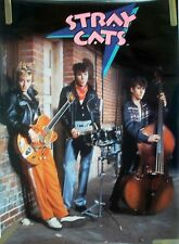 RARE THE STRAY CATS 1984 VINTAGE ORIGINAL MUSIC POSTER