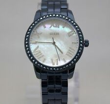 New Guess W0444L4 Mother of Pearl Glitzy Blue Stainless Steel Women Watch