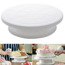 Turnable Rotating Revolving Birthday Cake Plate Turntable Cake Decorating StandY