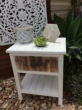 Bali- Balinese - side table white wash design-  shabby chic Country style