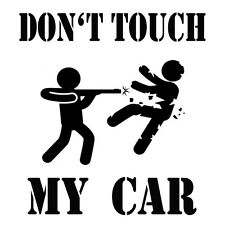 Don't Touch my Car Auto Aufkleber Sticker Folie Finger Weg Motorsport Tuning