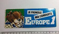 Autocollant Radio EUROPE 1 Castor Bricoleur Année 70/80
