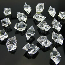 500 x CLEAR Acrylic Scatter Crystal Nuggets Ice, Confetti, Wedding Vase Filler