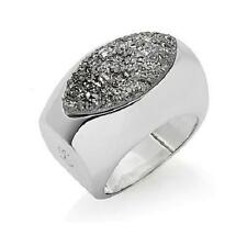 CHRISTINE DARREN SILVERTONE PLATINUM COLORED DRUSY RING SIZE 9 HSN SOLD OUT