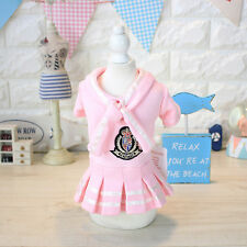 S Pet Dog Preppy Style Skirt Clothes Puppy Cat Winter Warm Pleated Skirt Apparel