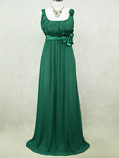 Cherlone Plus Size Chiffon Green Ballgown Bridesmaid Wedding/Evening Dress 22-24