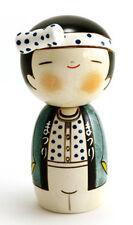 """Japanese Creative KOKESHI Wooden Doll Boy 5.75""""H Wassyoi Festival, Made in Japan"""