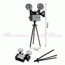 12TH DOLLSHOUSE-REMOVABLE ANTIQUE MOVIE CAMERA ON TRIPOD
